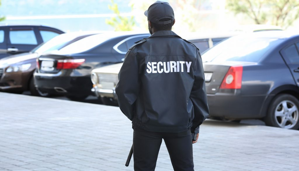 Security guard on car parking