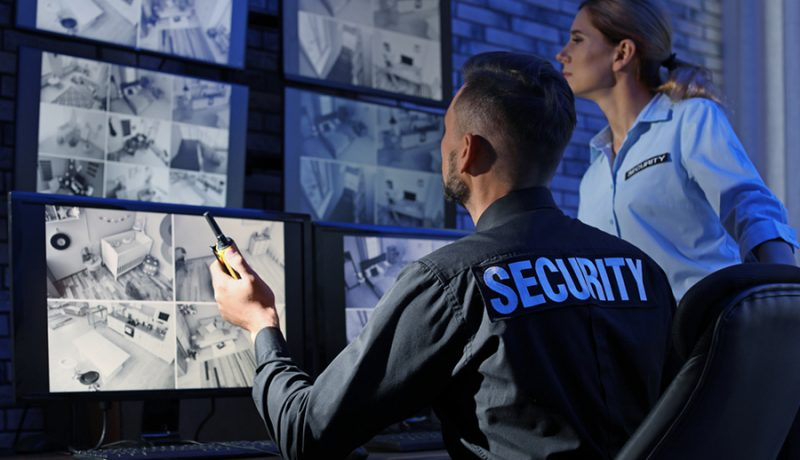 Guards in Security Station - Surveillance Camera Monitoring